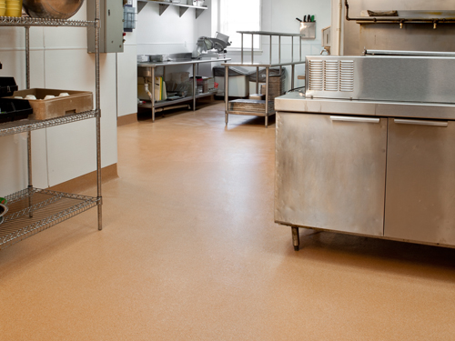 stonshield uts flooring in commercial kitchen