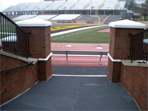 stonchem flooring in football ramp